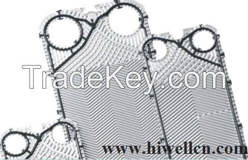 Heat exchanger plate and gasketes