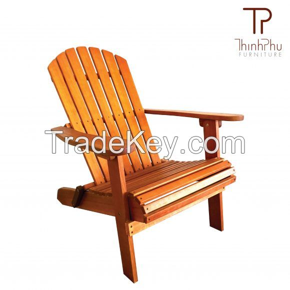 ADIRONDACK CHAIR WITH FOOTREST LUXIUS