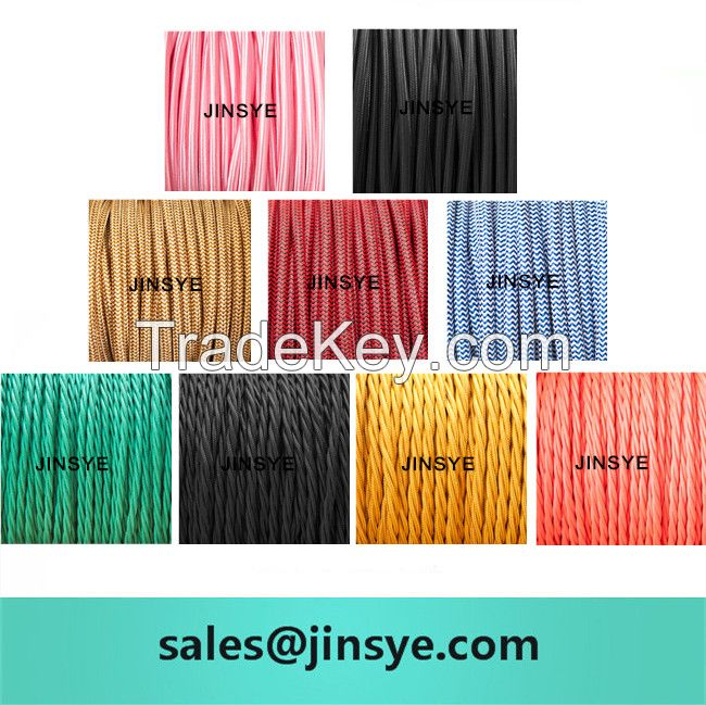 Twisted Vintage Fabric Wire Electrical Cable