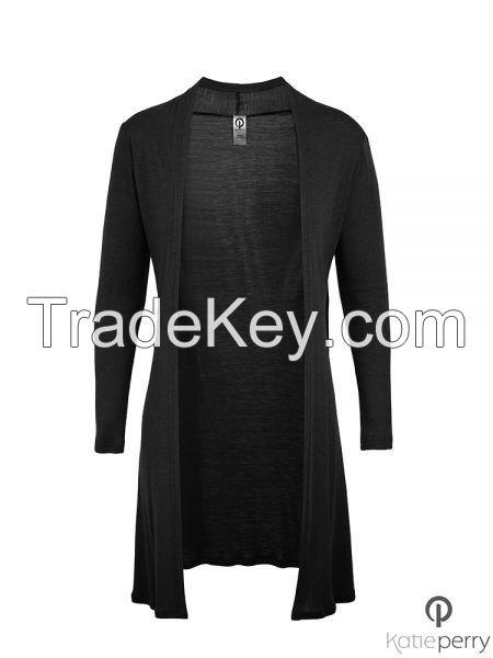 Merino Balmoral Jacket - Women's versatile long sleeve jacket, hourglass shape Jacket : Katie Perry