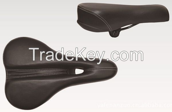MTB Bicycle saddle, PVC cover, steel frame and springs