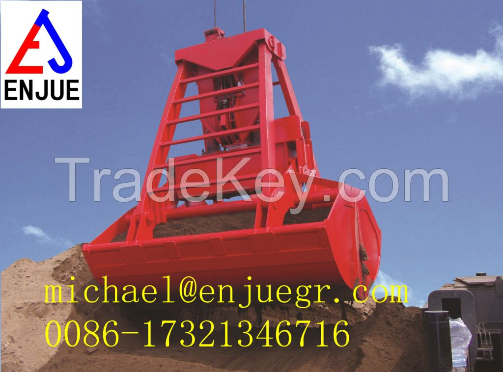 automatic remote control grab for bulk and for cargo material