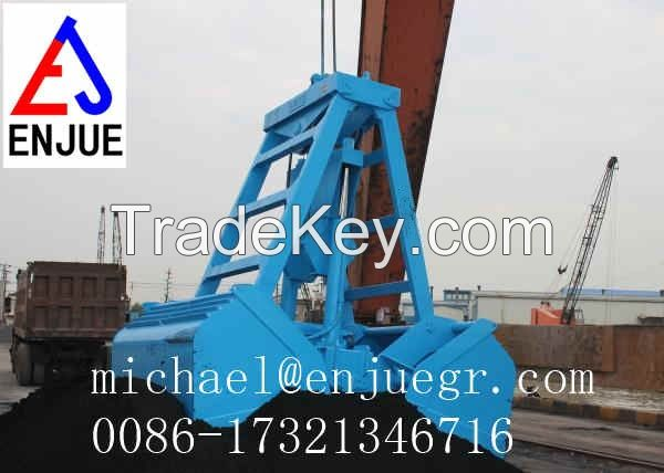 electric hydraulic automatic remote control grab for bulk material on hot sale in China 2016