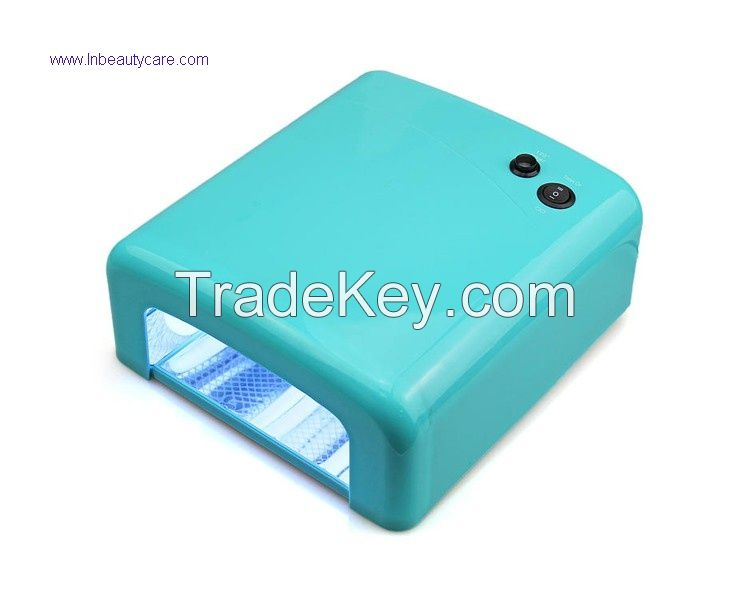 Best selling promotion price 36W uv nail lamp 818 uv curing lamp