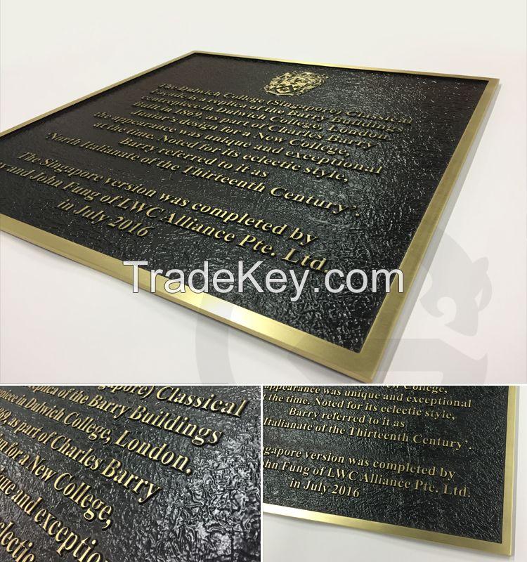 Manufacturer custom decoration 3d metal plaque