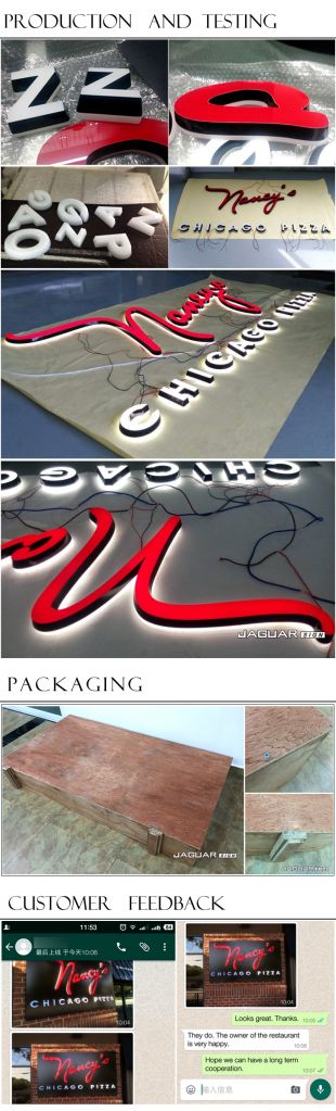 Manufacturer custom acrylic led channel letters