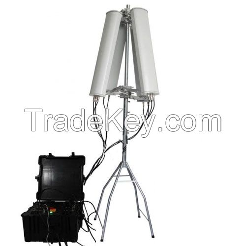 600W 4-8bands High Power up to 2500m Drone Jammer