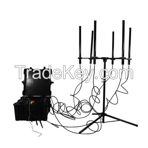 160W 4 8bands High Power up to 1000m Drone Jammer
