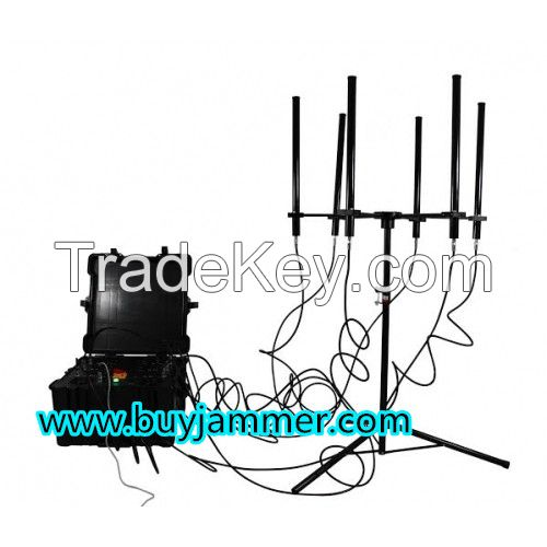 350W 4-8bands High Power Drone Jammer Jammer up to 2000m