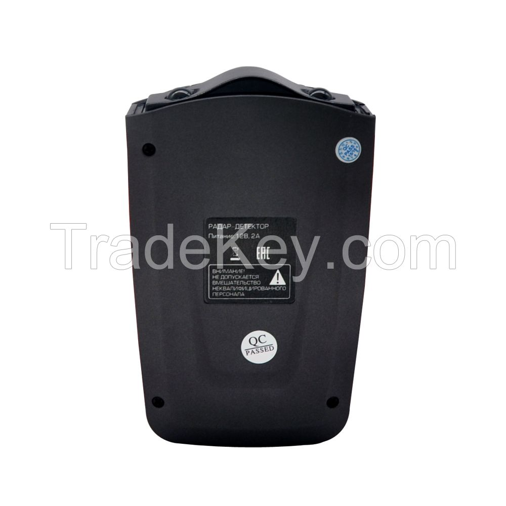 Russian voice and LED icons alert car speed radar laser detector with Russia speed camera gps database