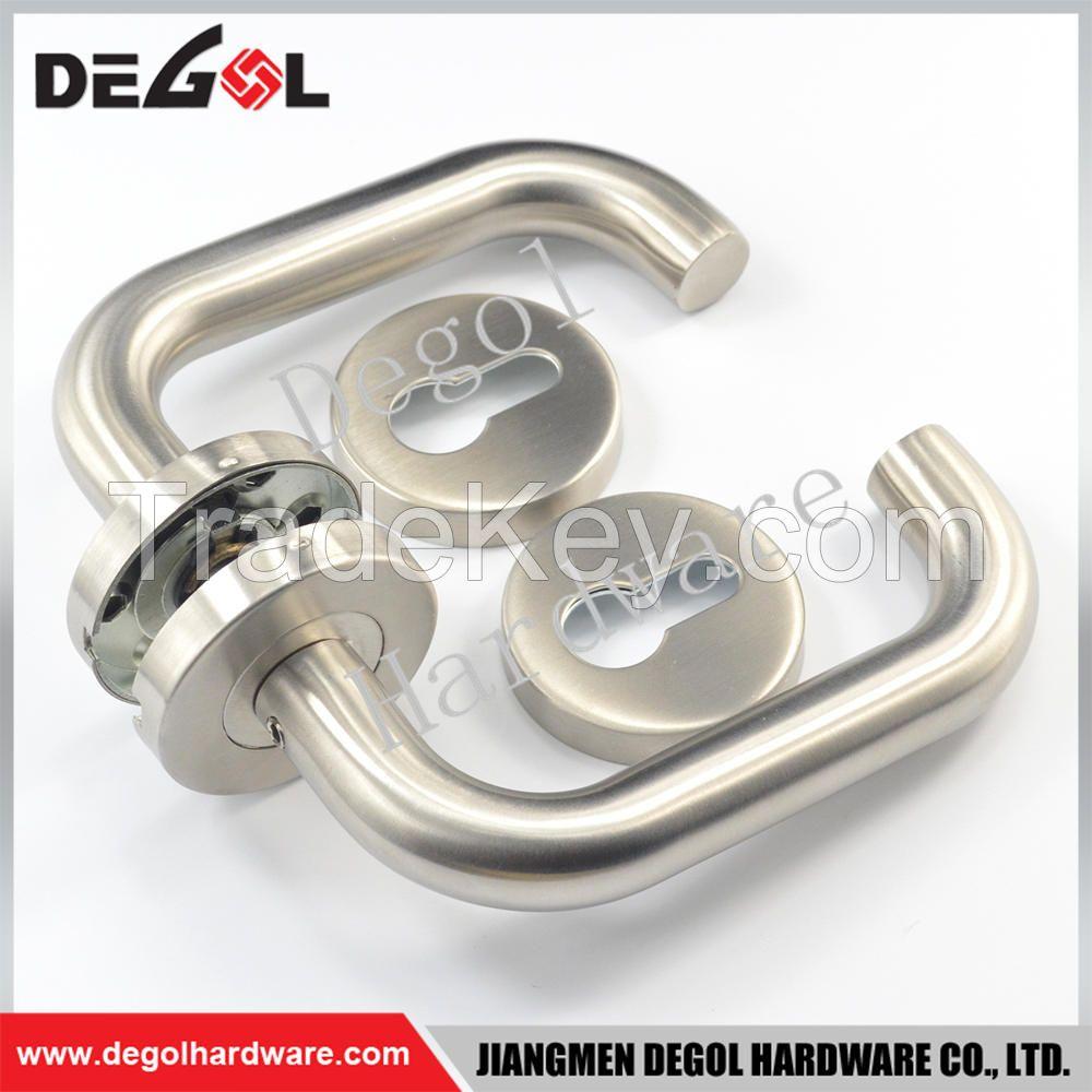 Hot Sale Stainless Steel Tube Lever Type Residential Door Handle