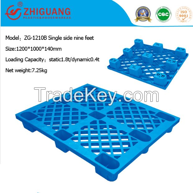 Single Faced Plastic Pallet for Stacking