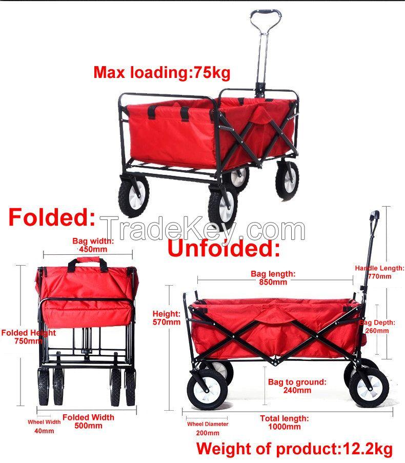 folding wagon cart multi-function tool cart
