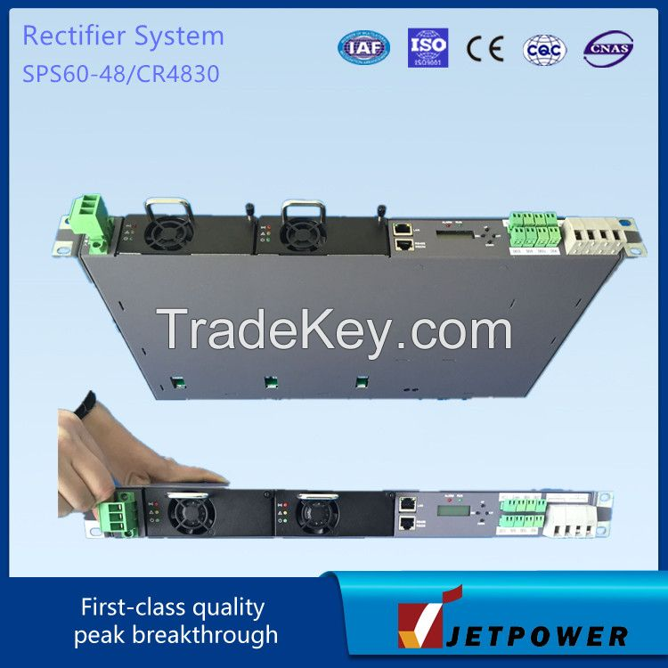 Subrack 1U 220VAC/48VDC 30A Switching Power Supply / Rectifier System