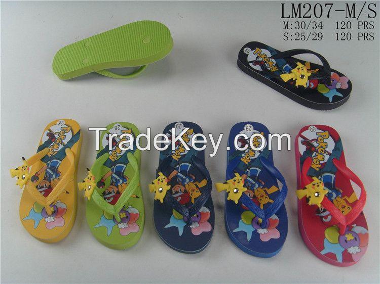 Summer custom cartoon printed beach boys flip flops child slipper eva outsole