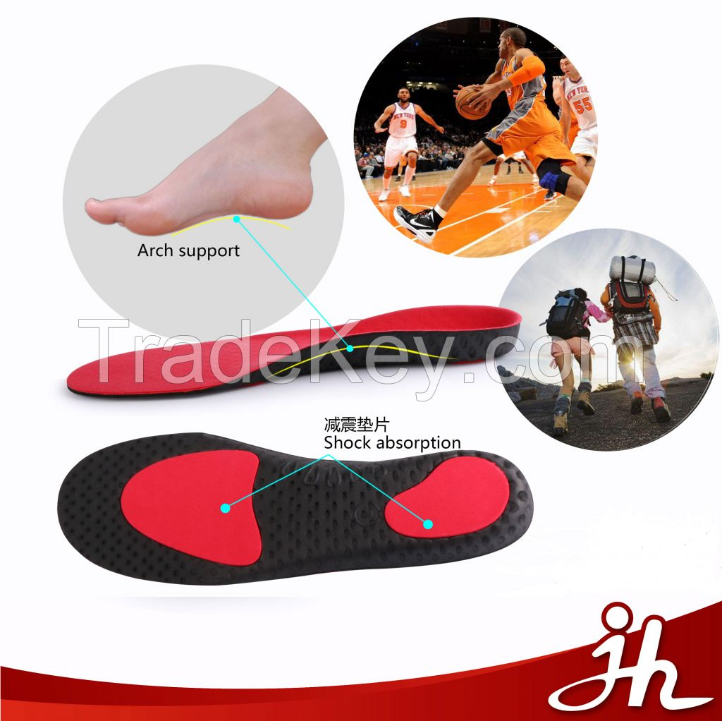 Jh-202 High Elastic Light Weight Shock Absorption EVA Bowlegs Correction Adjustable Arch Support Orthotic Insoles Manufacturor