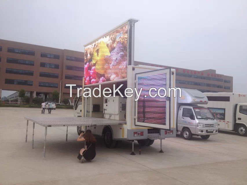 FOTON 4x2 4x4 Right Hand Drive Mobile Outdoor Waterproof LED Advertising Truck Manufacturer