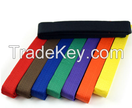 Colourful martial arts belts/taekwondo belts/custom karate belts for children
