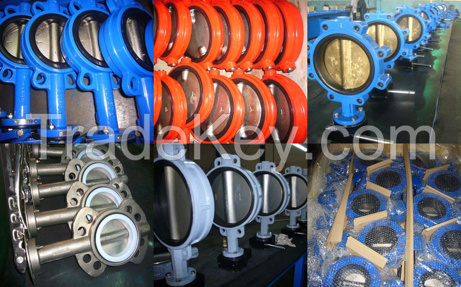 API CF8 Stainless Steel Soft Seal Butterfly Valve