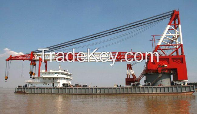 800T floating crane barge