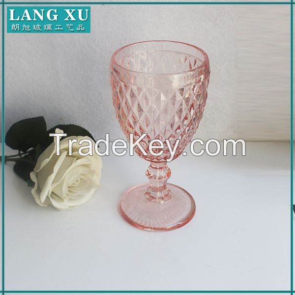 thick stem heavy wholesale colored pink water goblets