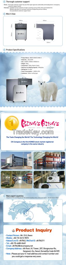 Table type ice flake machine Bings Bings Mini-S