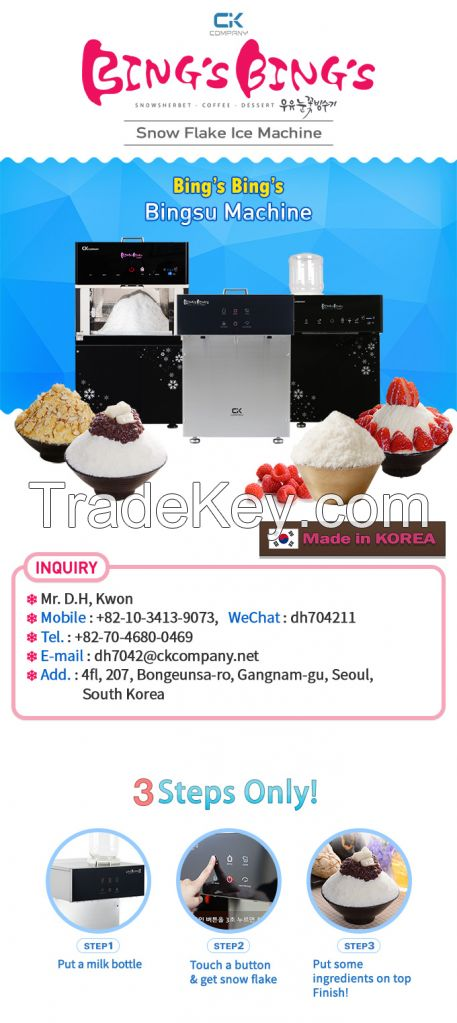 Table type ice flake machine Bings Bings Mini-i