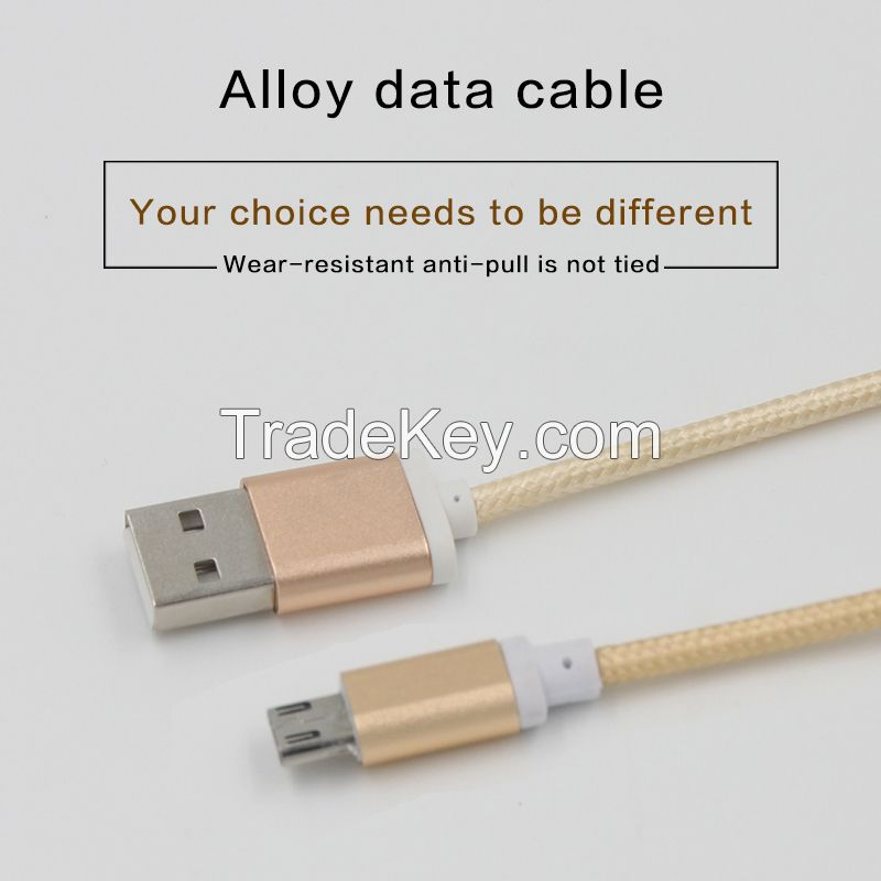 1.5M Unbroken Metal Braided Micro USB Cable Iphone 6 Sync Date Charging Cables Cord Certified Cable For Sumsang Galaxy S4 S5