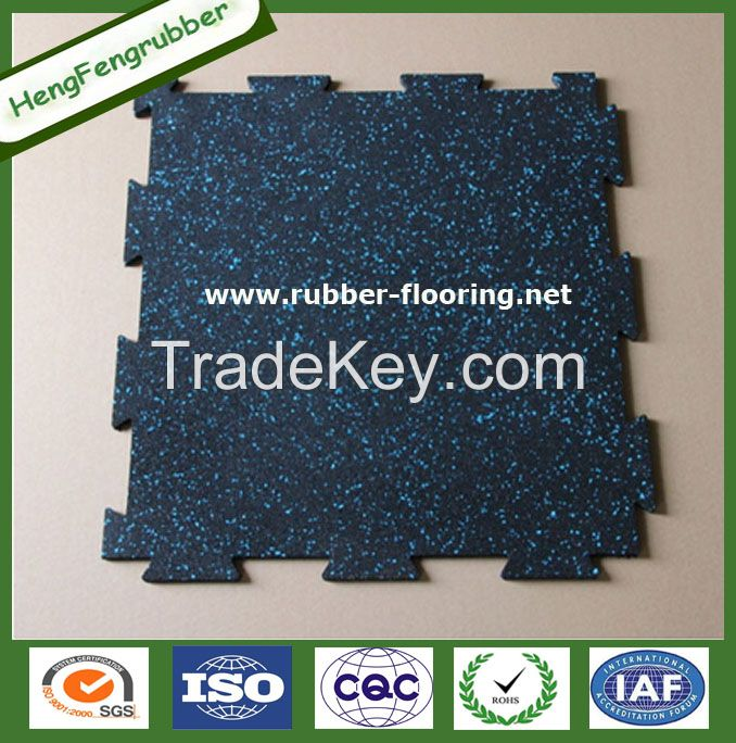Hot Sale New Style Rubber floor tile for gym/crossfit