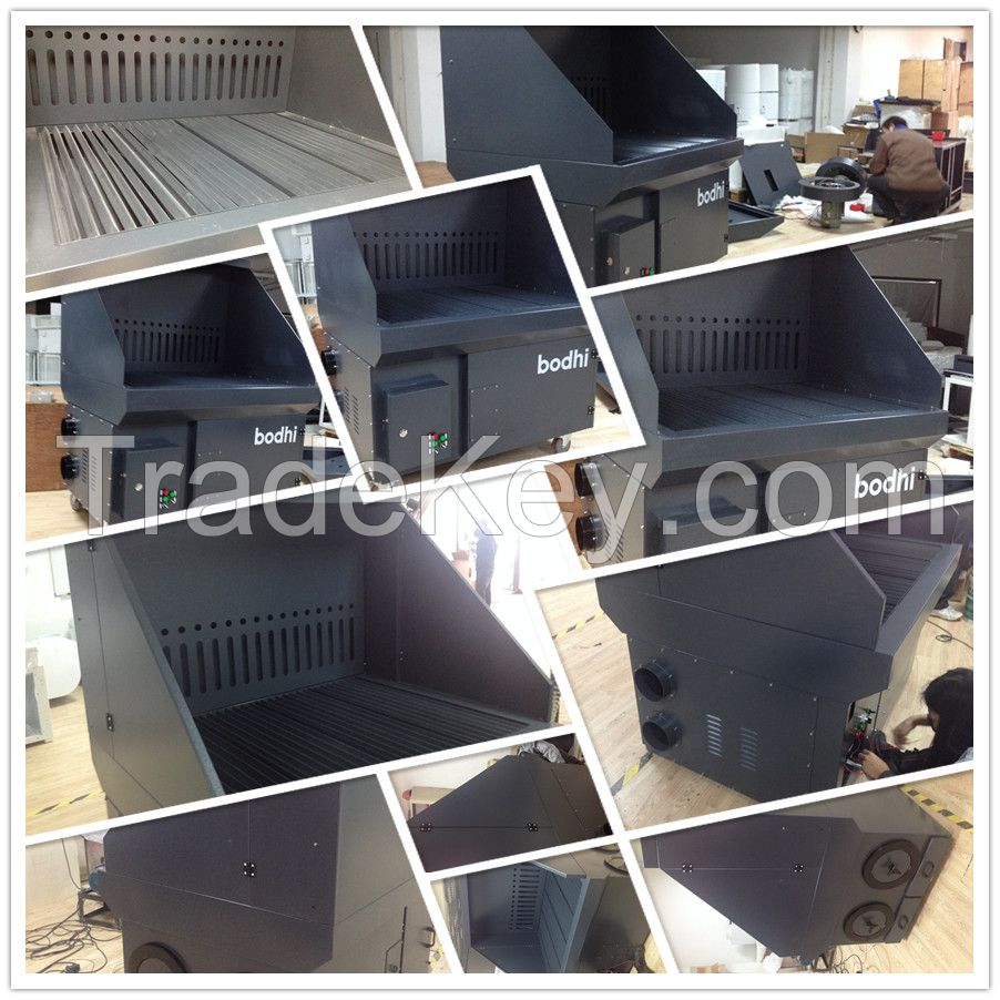 High efficiency downdraft benches/table, cartridge filter for grinding, cutting, welding, etc