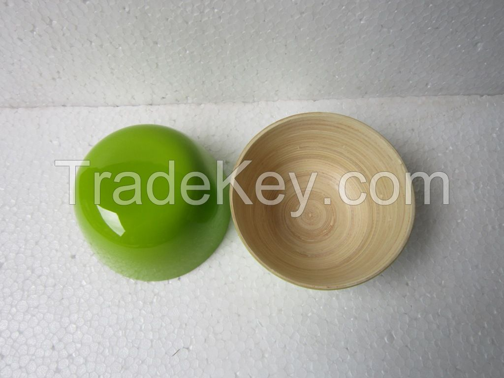 Eco-friendly spun bamboo bowl for kitchenware wholesale price made in Vietnam
