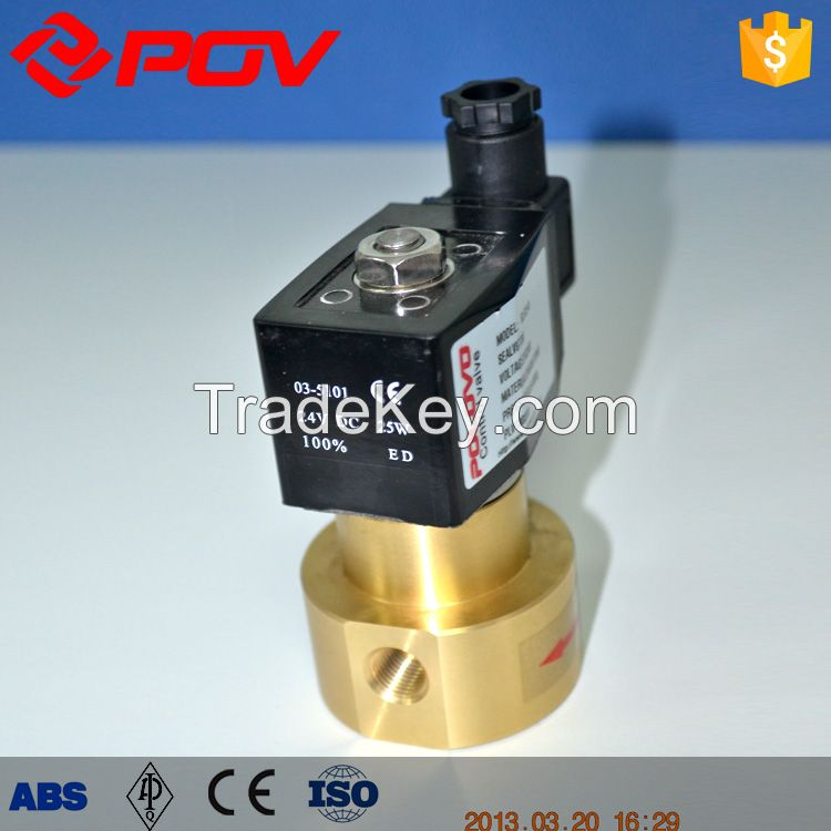 Wrought brass G thread high pressure solenoid valve normally closed