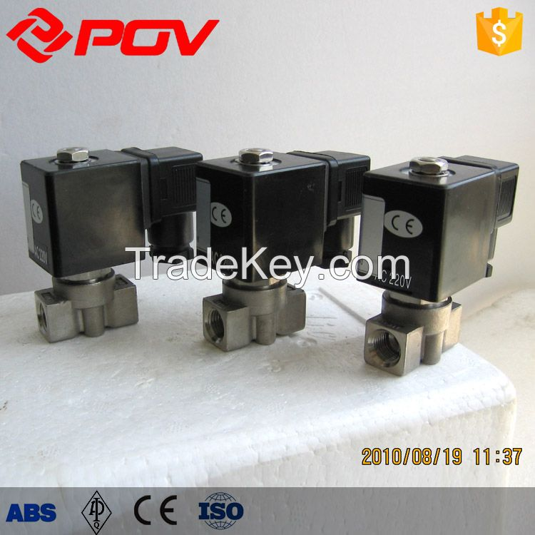 SS304 G thread micro high pressure solenoid valve normally closed