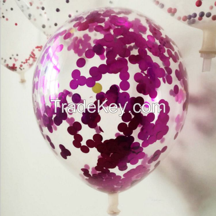 Clear Latex Transparent Confetti balloons for wedding party decorations