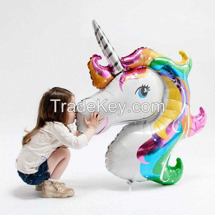 Children's Day party decoration unicorn My Little Pony shape mylar balloon