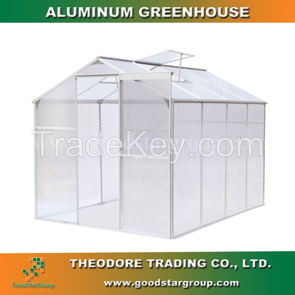 Aluminum greenhouse for backyard garden hobby greenhouse portable building greenhouse kits