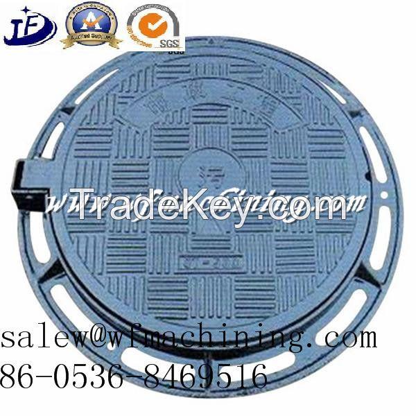 Custom/OEM Cast Iron Round Manhole Cover for Patio Drainage