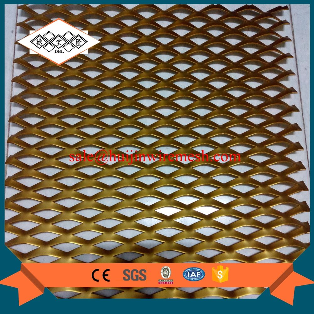 hexagonal hole plastic coated expanded metal mesh