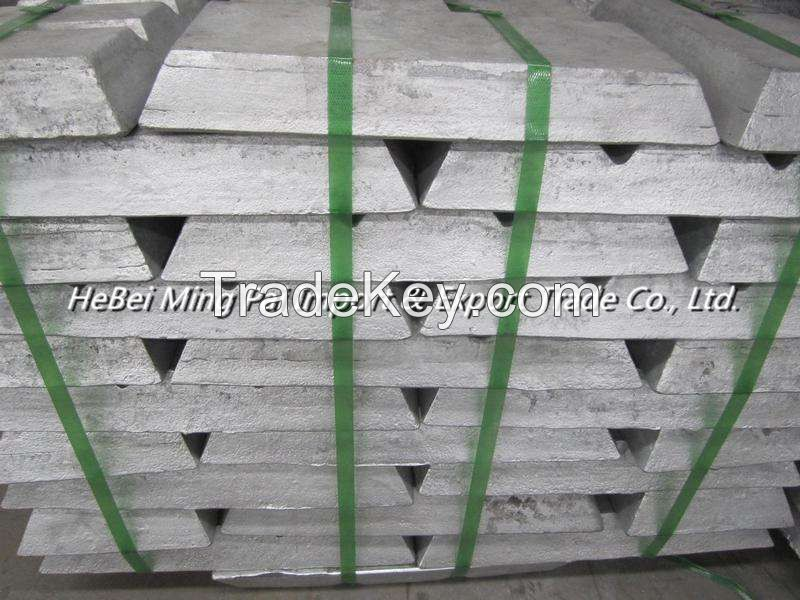 SHG zinc ingot 99.995% purity with high quality