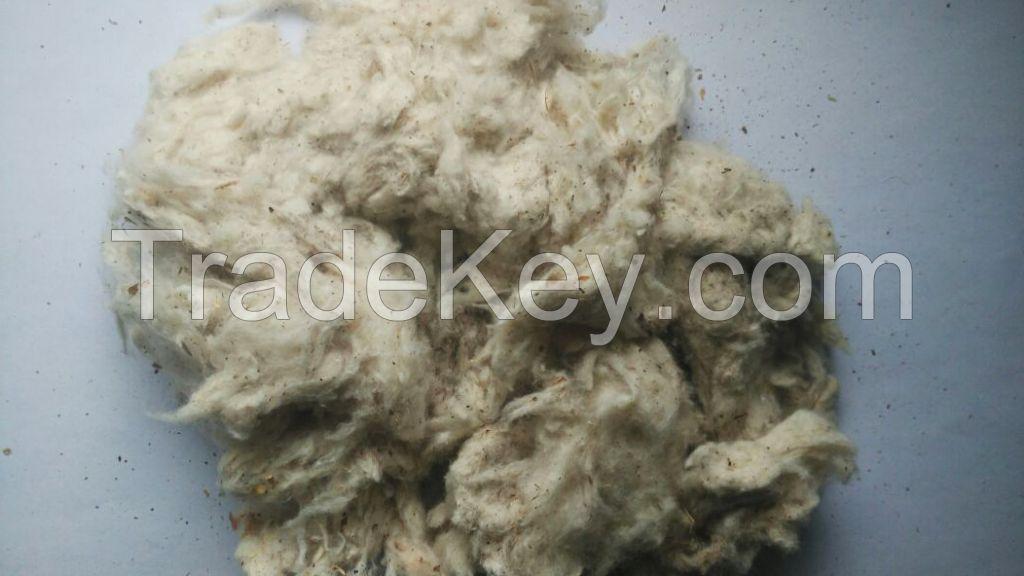 100% Cotton willowed waste short fIber