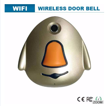 built-in microphone and speaker video mobile phone wireless doorbell