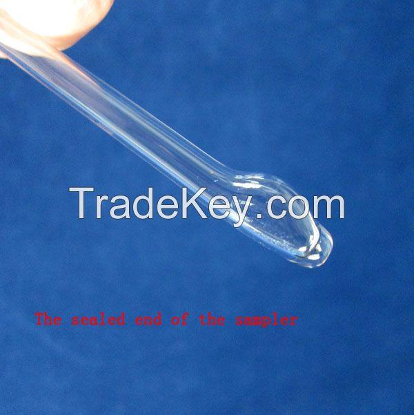 Iron liquid sampler vacuum sampling quartz glass tube