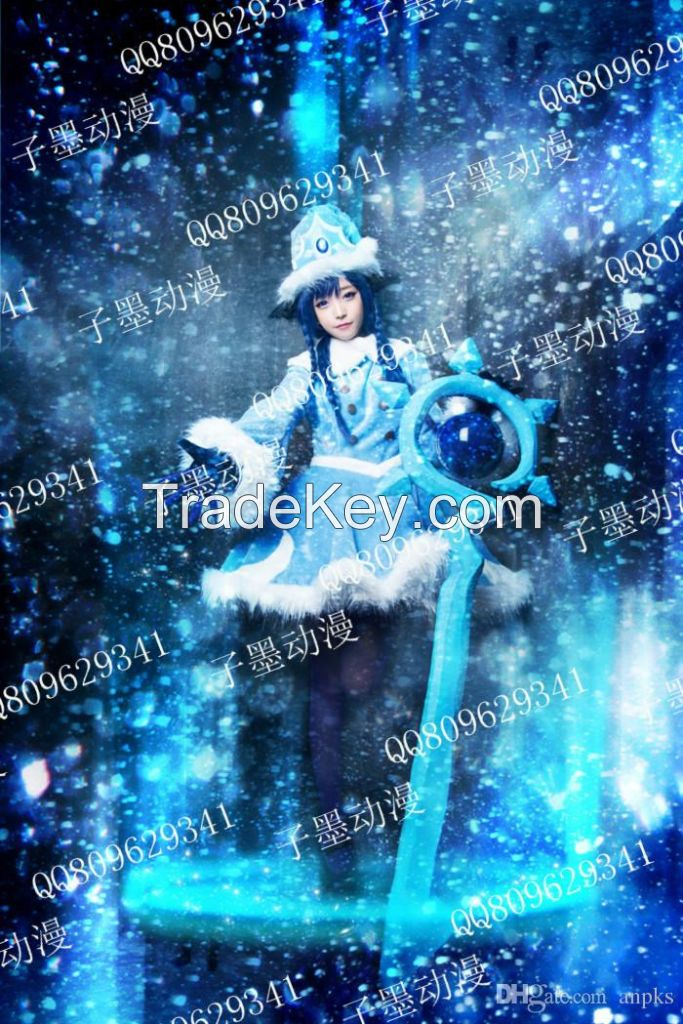 mascot Cos clothing LOL Lulu Christmas snow Faerie Witch Costume.