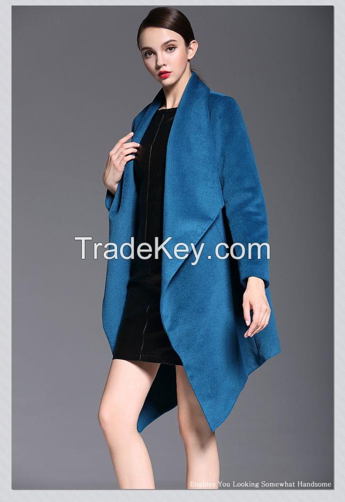 Winter Europe big new high-grade wool irregular design in loose  coats