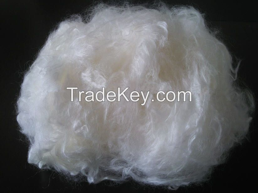 Bright white viscose rayon staple fiber 1.2d, 1.5d, 38mm for spinning non woven