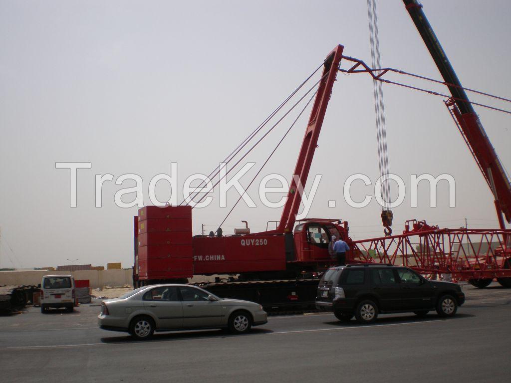 FUSHUN CRAWLER CRANE 250 Ton