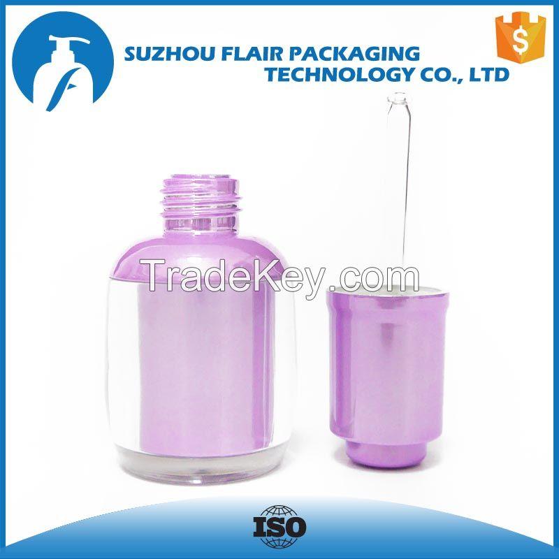 Plastic empty dropper bottle