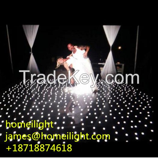 12ft*12ft LED starlit dance floor for wedding LED dancing floor