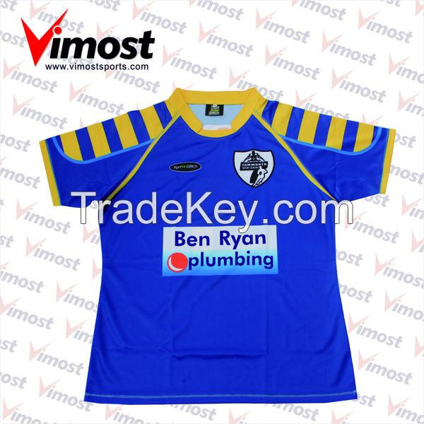Custom sublimation rugby jersey