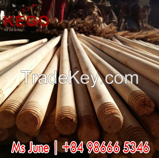 Wholesale factory price eco-friendly nature wooden broom handle